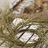 Set of 4 Hand Wrapped Whispy Wild Grass Candle Rings for Crafting, Creating and Decorating