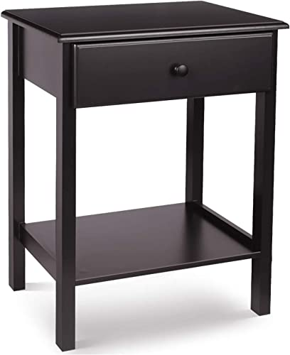 HOMFA Night Stand End Table Wooden Bedside Table
