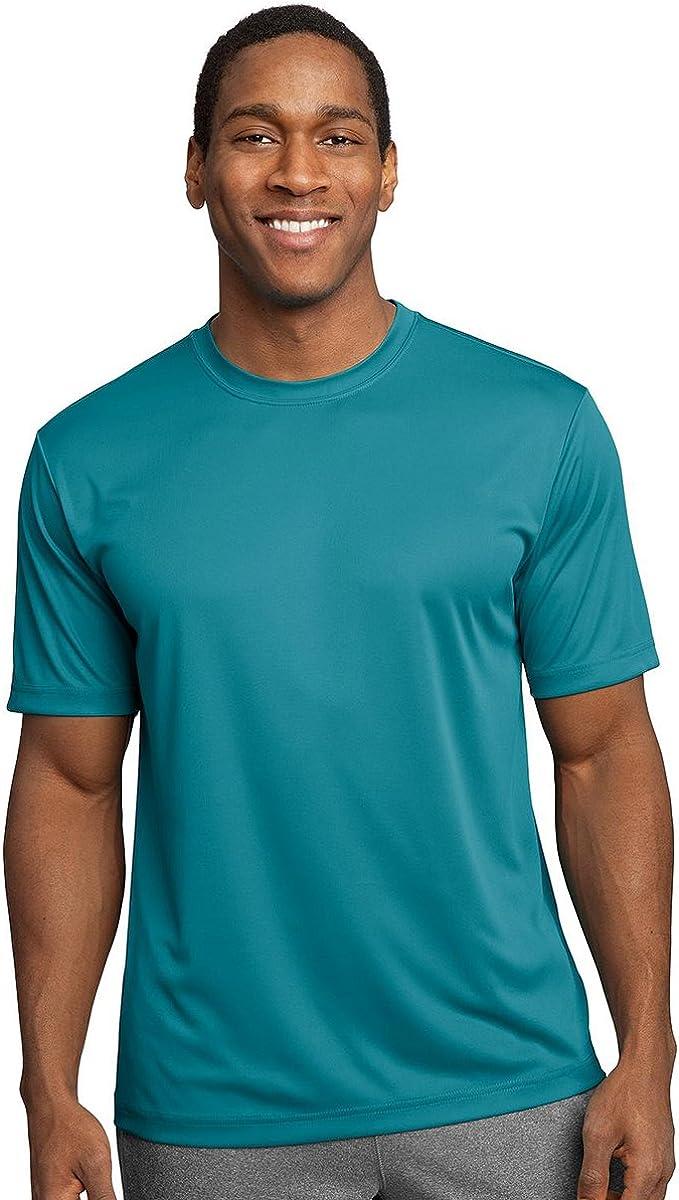 New w//o Tags Women/'s Sport-Tek performance t-shirt Dark Grey Running Fitness