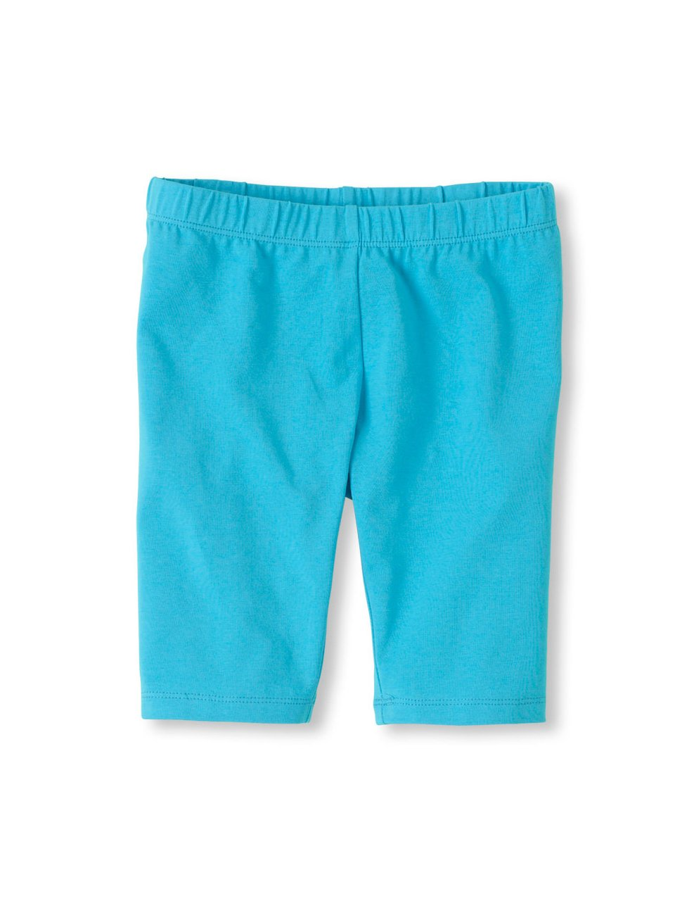 Vivian's Fashions Legging Shorts - Girls, Biker Length, Cotton (Turquoise, Lg)