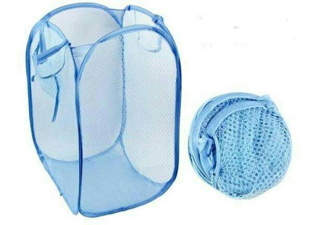 ポップアップ折りたたみ式洗濯籠バスケット ブルー  ベビーブルー B07D84CKRJ