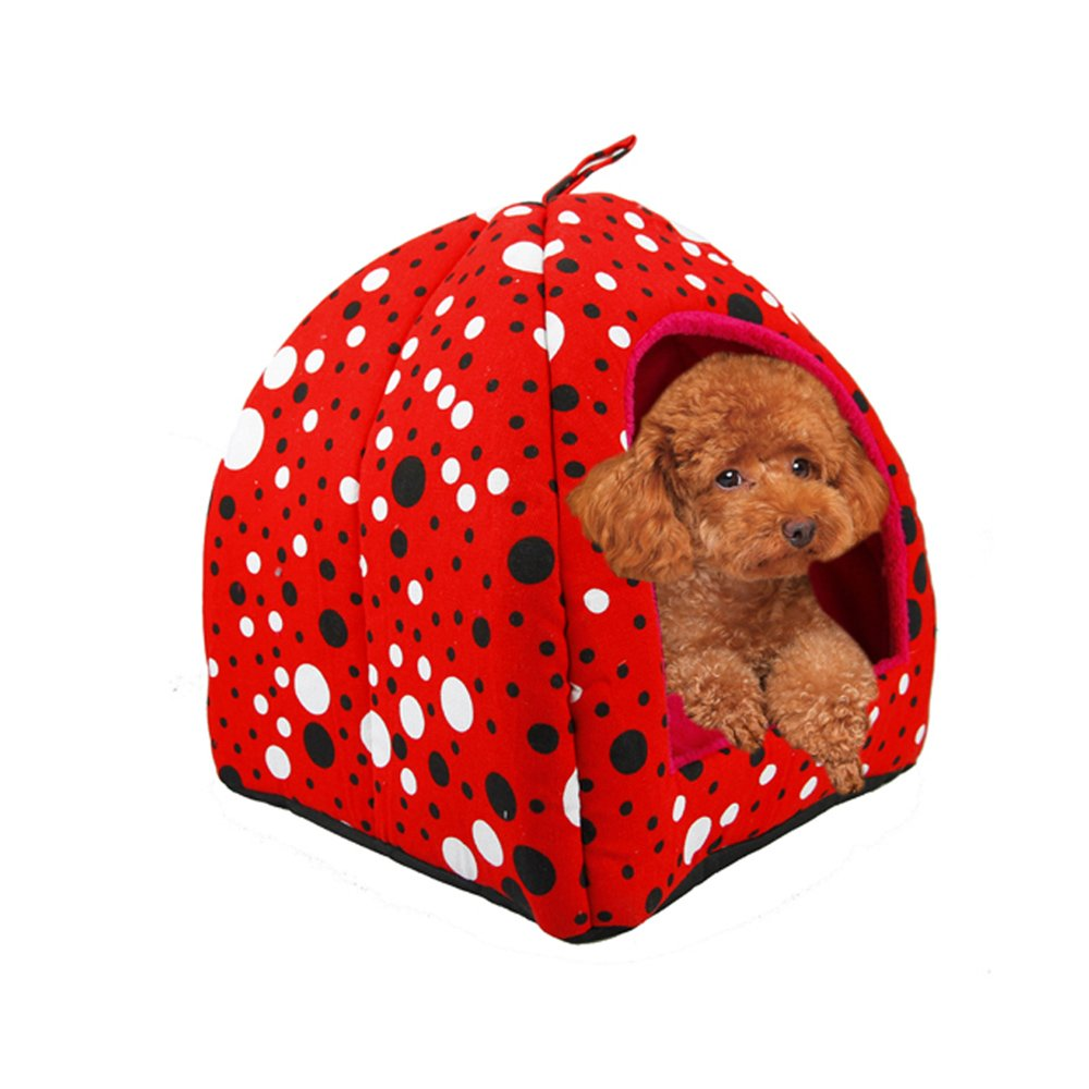 Big Red Large Big Red Large YNZYOG Pet Yurt Nest Cat Litter Pet Nest Autumn And Winter House Doghouse Pet Bed Kennel Pet Supplies Indoor Animal Hide Room (color   Big red, Size   L)