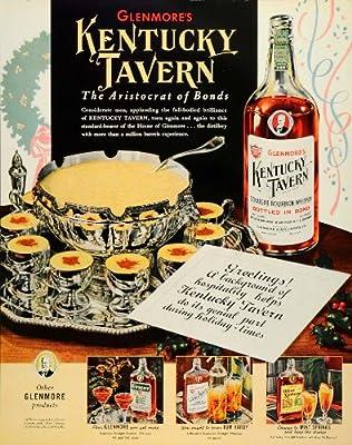 1939 Ad Glenmores Kentucky Tavern Scotch Whisky Egg Nog - Original Print Ad
