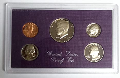 Empty Packaging Replacement Proof Set Box No Coins 1986