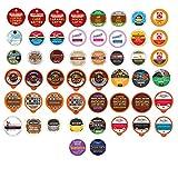 Coffee Single Serve Cups For Keurig K cup Brewers, Variety Pack Sampler (Premium Coffee, 50 Count)