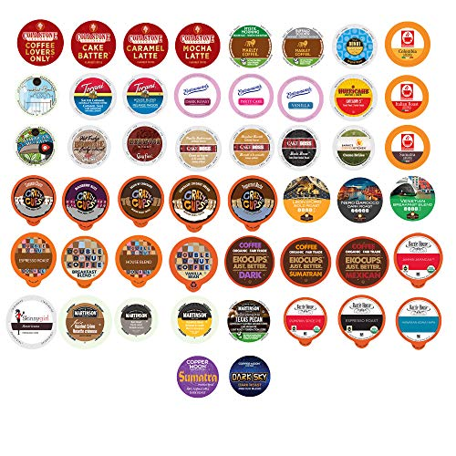 Coffee Single Serve Cups For Keurig K cup Brewers, Variety Pack Sampler (Premium Coffee, 50)