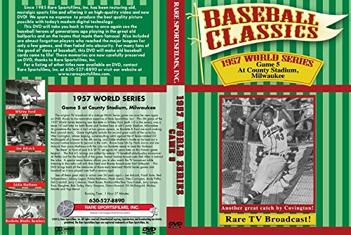 1957 WORLD SERIES, Milwaukee Braves vs New York Yankees Game 5 at County Stadium on DVD - Milwaukee Braves Stadium