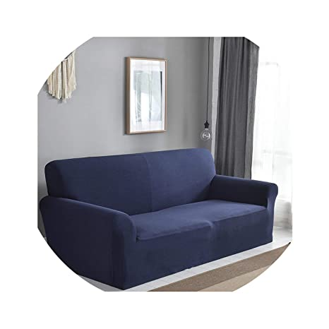 Cátedra de Calidad rayado azul del sofá cubierta / sofá de ...