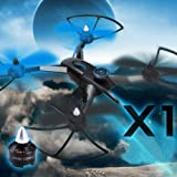 LANDVO® JJRC X1 Upgraded version 2.4G 4CH 6 Axis Gyro Brushless Motor RC Quadcopter Helicopter Drone RTF with LANDVO LOGO, Blue