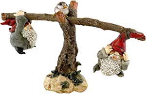 Top Collection Miniature Fairy Garden and Terrarium Gnomes Playing On Seesaw Figurine