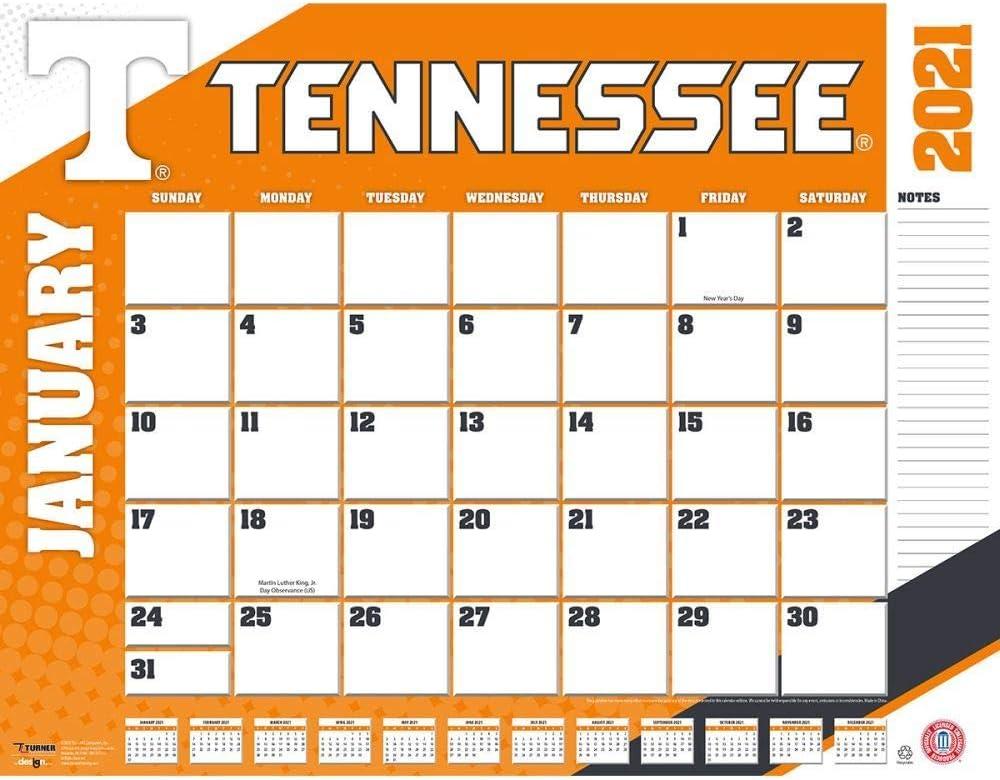 TURNER Sports Tennessee Volunteers 2021 22X17 Desk Calendar (21998061489)