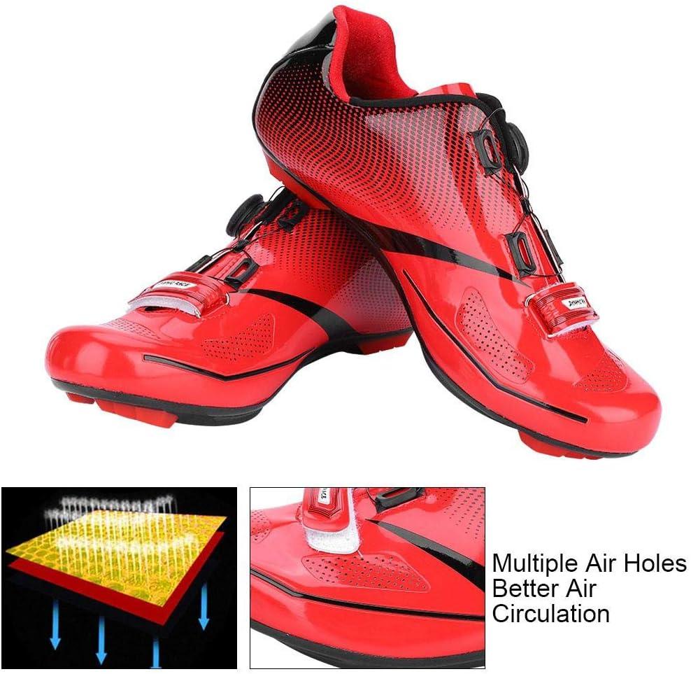 1 par de Zapatillas Antideslizantes de Carretera con Rayas Reflectantes para Ciclismo de Carretera de Monta/ña Dilwe Zapatilla de Ciclismo