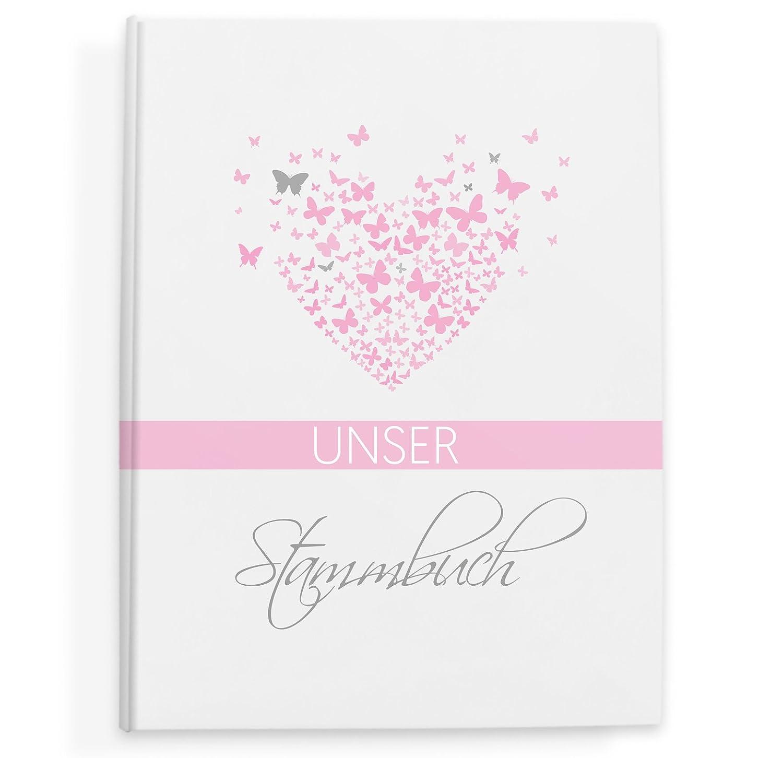 Bigdaygraphix Stammbuch der der der Familie Familienstammbuch butterflyheart Bordeaux B07BPDTJGW Gstebücher ad763e