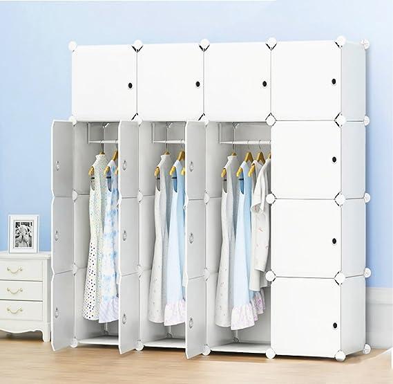 PREMAG Portable Garderobe für hängende Kleidung, Kombischrank, modulare Schrank für platzsparende, Ideale Storage Organizer C