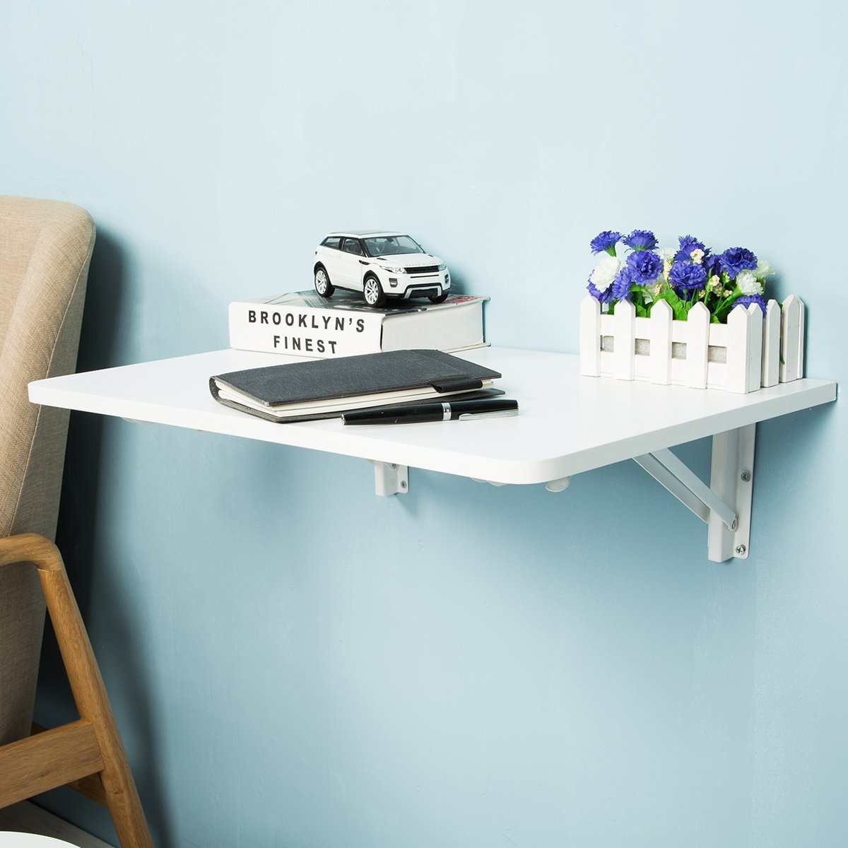 Amazon.com: FSC Certified Wall-Mounted Folding Table for Office Home ...