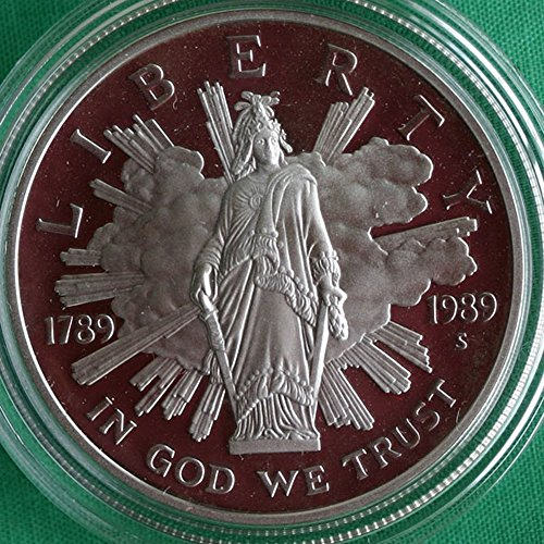 1989 S US Mint Congressional Commemorative Proof Silver Dollar 1 DCAM US Mint ()