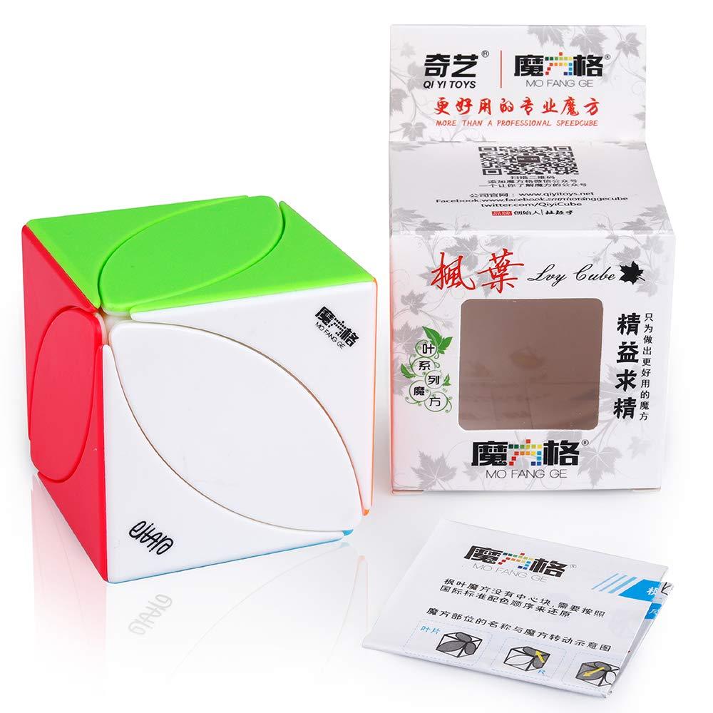 D-FantiX Qiyi Ivy Cube Stickerless Qiyi Mofangge Skewb Cube Leaf Cube Puzzle Toy