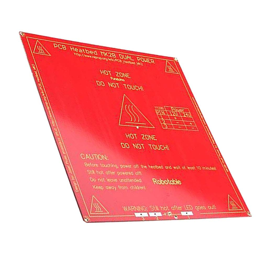 non-brand Cama Climatizada de PCB Repuesto de Impresora 3D 12/24V ...