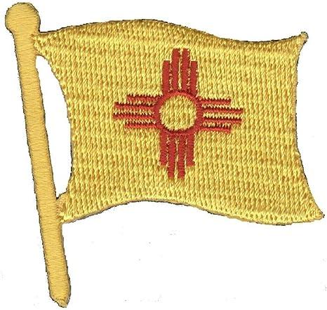 Amazon Com New Mexico Applique Patch Nm Flag Albuquerque Santa Fe 1 7 8 Iron On