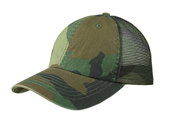 ec845c3657a67 TOP HEADWEAR Enzyme Washed Camouflage Mesh Cap - Camo at Amazon ...