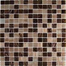 M S International Treasure Trail Iridescent 12 In. X 12 In. X 4mm Glass Mesh-Mounted Mosaic Tile, (20 sq. ft., 20 pieces per case)