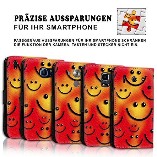 Wallet Book Style Flip Handy Tasche Case Schutz Hülle Schale Motiv Etui für Apple iPhone 6 Plus / 6S Plus - Design Flip MV97