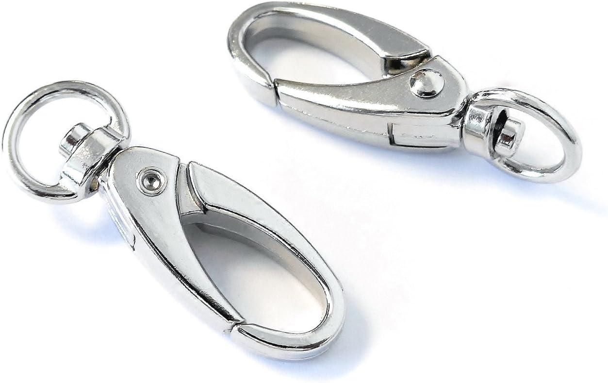 100X Silver Alloy Lobster Clasp Hooks Jewelry Findings K1P1 Bracelet Neckla T5K7