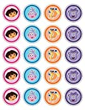 20 x Dora the Explorer Party Collection Edible Rice Wafer Paper Cupcake Toppers