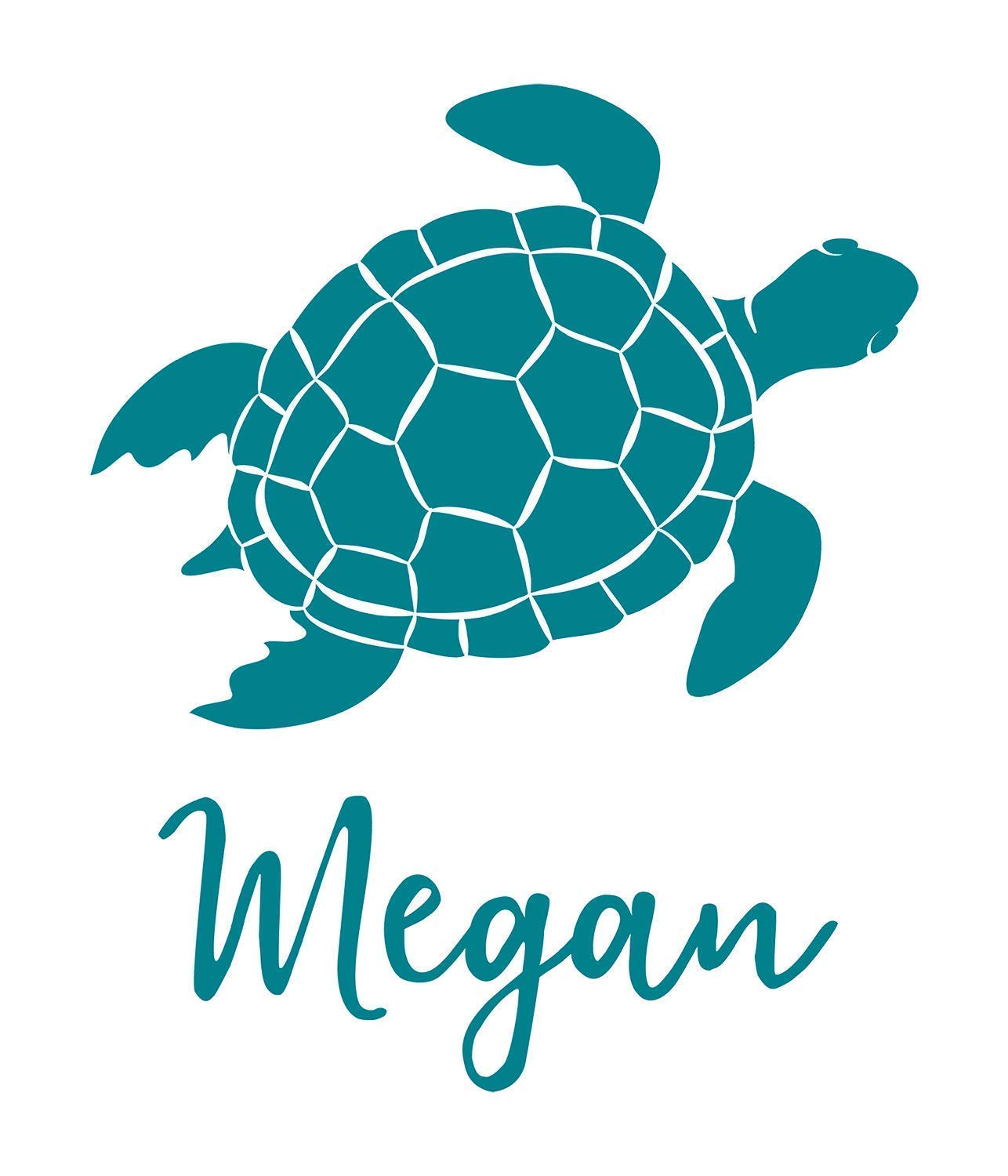 Personalized Vinyl Decal for Car//Phone//YETI cup Sea Turtle Monogram by An Engineered Craft