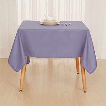 Violet basse nappe rectangulaire deconovo salon decoration Salon de jardin violet