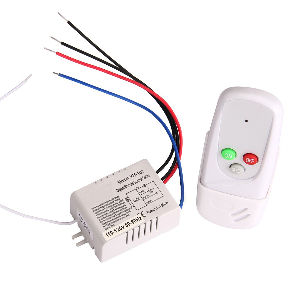 VANPOWER Wireless 1 Way ON/OFF Digital Remote Control Switch 110V For All Lights