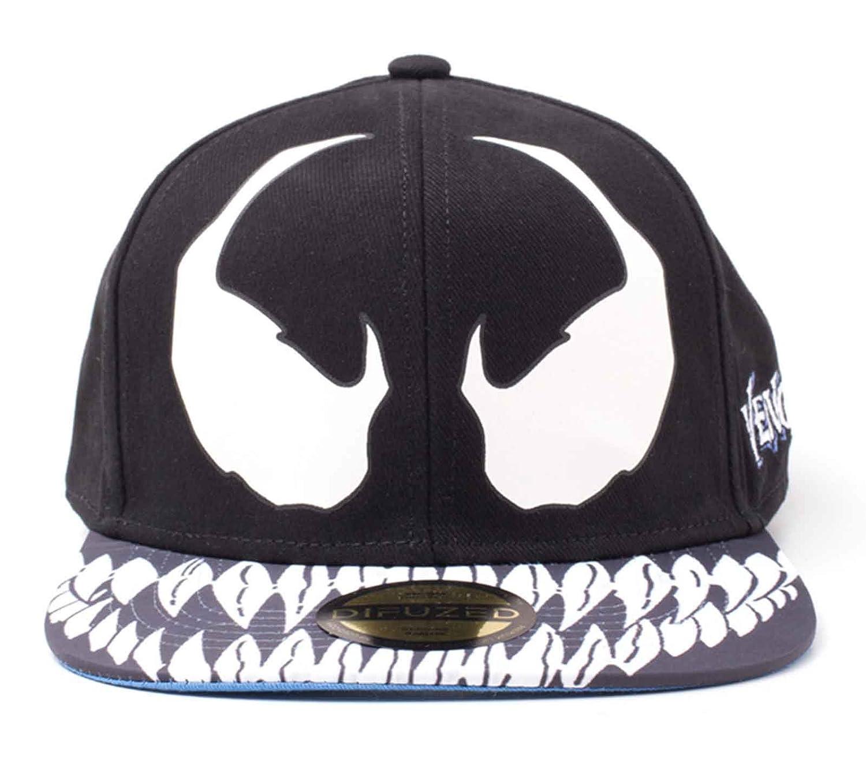 Amazon.com  Venom Baseball Cap Venom Mask Official Black Spiderman  Snapback  Clothing 32f4cb2806a