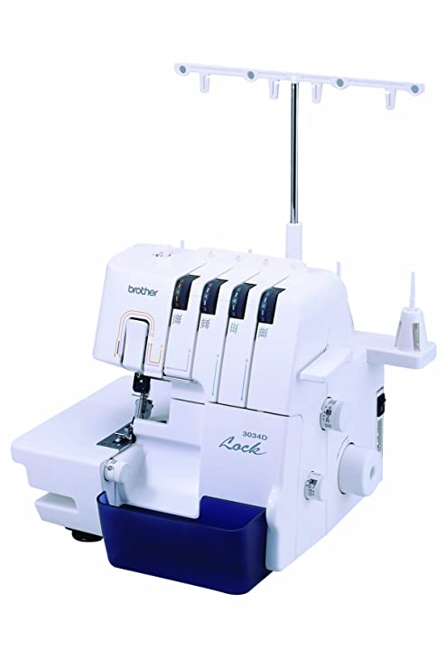 Brother 3034D Eléctrico - Máquina de coser (Blanco, Overlock, Costura, Variable,
