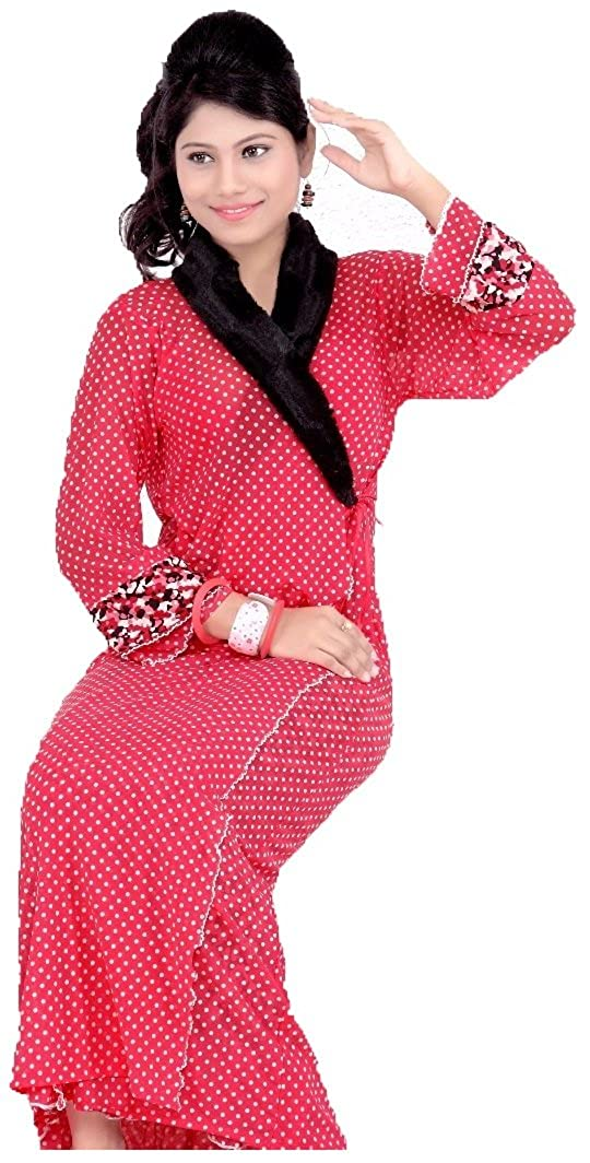 Hot N Sweet 8034 A Red Two pieces nighty  Amazon.in  Clothing   Accessories ca0798fcf