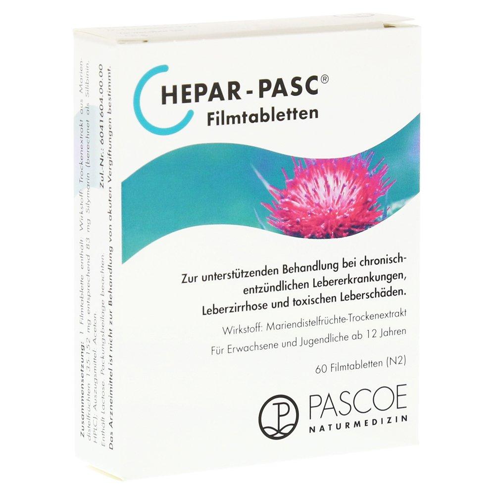 60 comprimidos recubiertos con película HEPAR PASC St: Amazon.es: Salud y cuidado personal