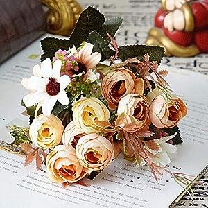 GSD2FF 27CM Length 1 Bouquet Real Touch Silk DIY Daisy Camellia Artificial Flowers Party Home Decor Wedding Decoration 81