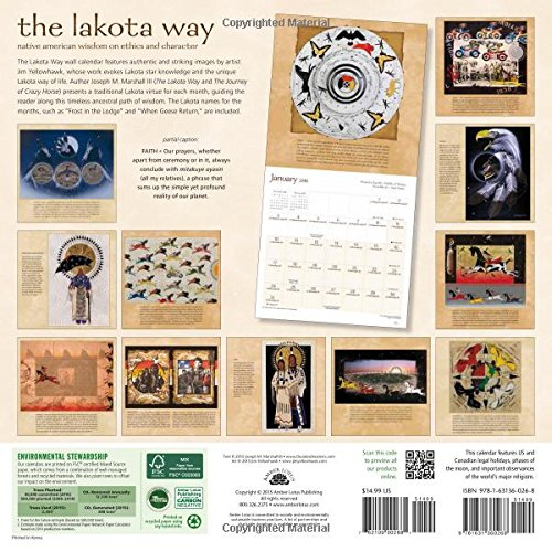the lakota way The lakota way wall calendar features authentic and iconic native american artwork by lakota and iroquois artist jim yellowhawk, whose work evokes lakota star.
