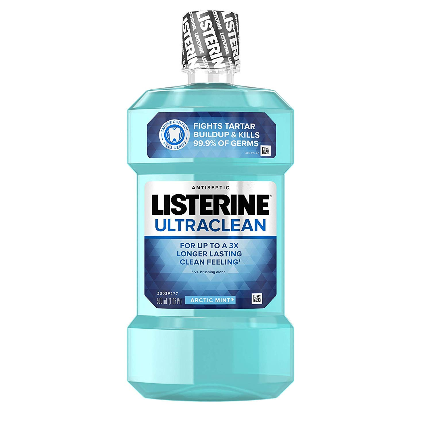 Listerine Ultraclean Antiseptic Arctic Mint 500 mL (Pack of 3)
