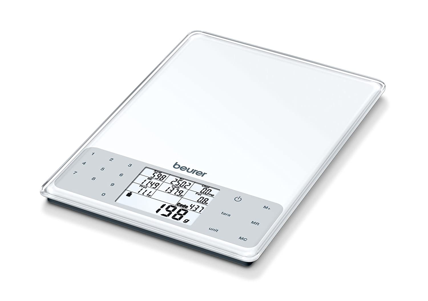 Beurer DS61 Nutritional Analysis Scale, White 709.05 70905 1