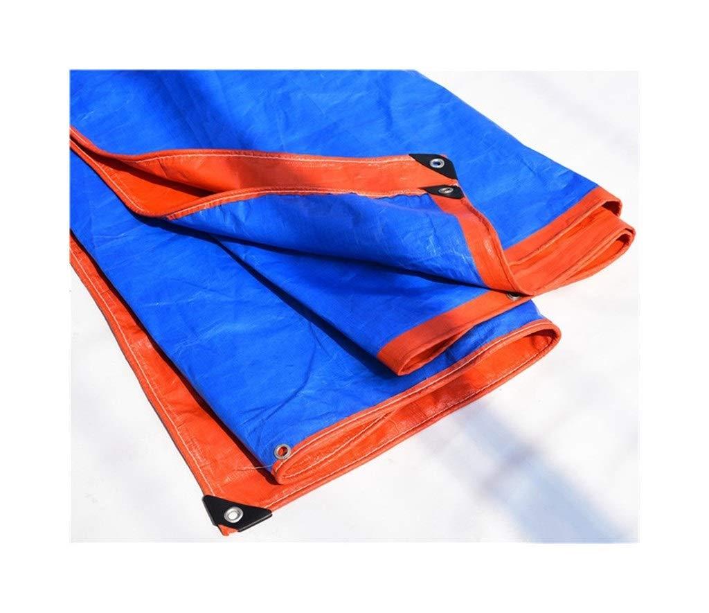 CAOYU BÂche imperméable à l'eau Poncho à Trois Roues Camion Solaire Pare-Soleil bÂche Anti-oxydation Pliable, Orange + Bleu A 57