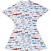 Patterned Year-Round Zipadee-Zips (Fishing, Medium 6-12 Months (19-26 lbs, up to 32 inches))