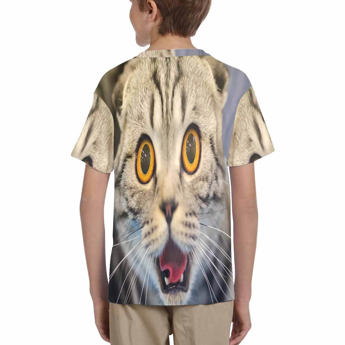XS-XL INTERESTPRINT Kids T-Shirts Funny Cat with Blurred Background