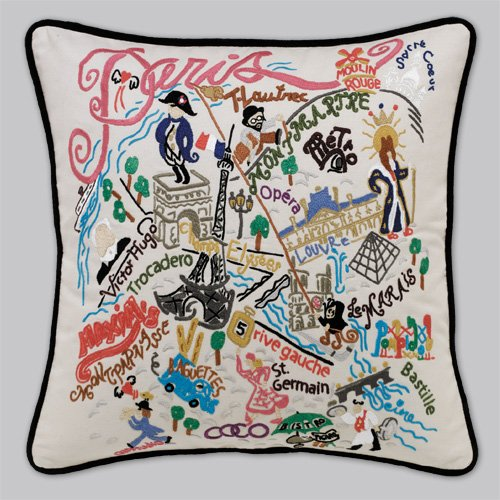 Catstudio Paris Pillow - Geography Collection Home Décor 121(CS) by Catstudio Embroidered Pillow