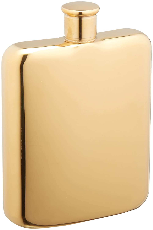 Titanium 9011.4 Oggi Plated Stainless Steel Mirror Finish Hip Flask