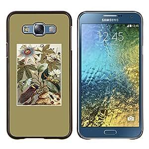 Stuss Case / Funda Carcasa protectora - Oro floral Campo Flores de verano - Samsung Galaxy E7 E700