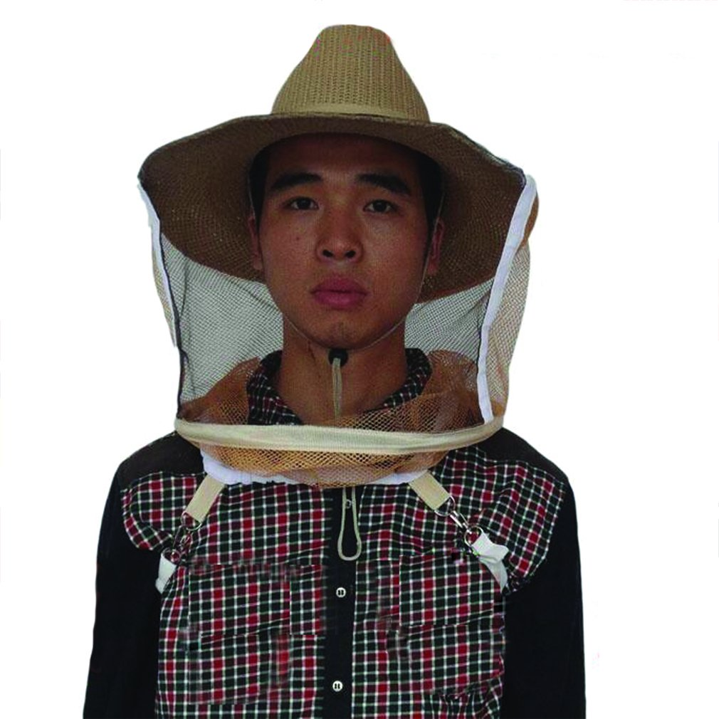 cfcd30f48 F.AM.E Mosquito Bug Bee Insect Repellent Mesh Net Protective Cowboy Hat  Head Face Protector