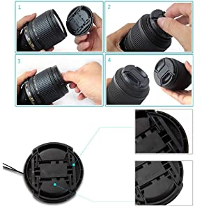 55mm Lens Cap Compatible with for Nikon &for Canon &for Sony Any Lenses with Ø 55mm Camera (Tamaño: 55mm lens cap)