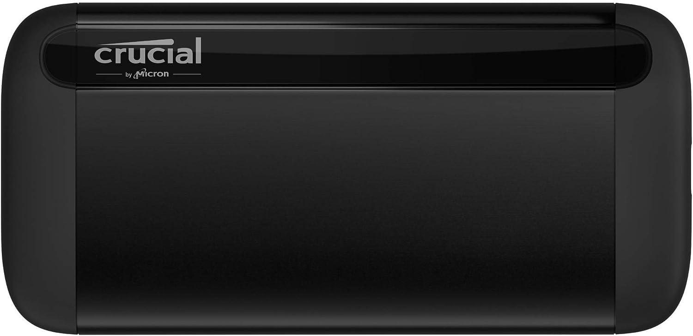 Crucial CT1000X8SSD9 X8 1 TB SSD portátil – de hasta 1050 MB/s – USB 3.2 – Unidad de estado sólido externa USB-C, USB-A