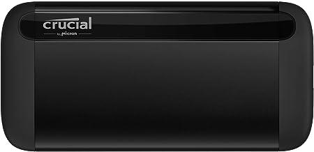 Oferta amazon: Crucial CT1000X8SSD9 - SSD portátil X8 1 TB, de hasta 1050 MB/s – USB 3.2 – Unidad de estado sólido externa USB-C, USB-A