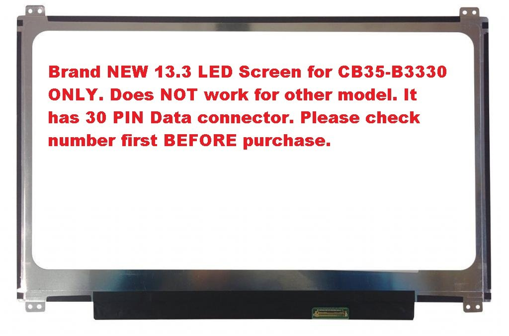 """13.3/"""" Replacement LCD Screen for Toshiba Chromebook CB35-B3330"""